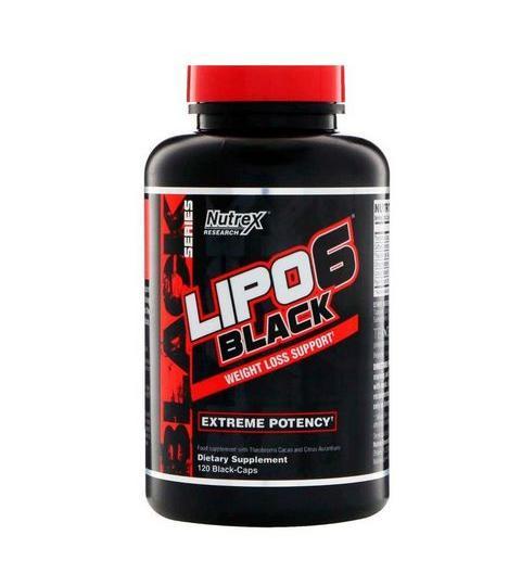 NUTREX- LIPO 6 BLACK NEW ( 120 Cápsulas )